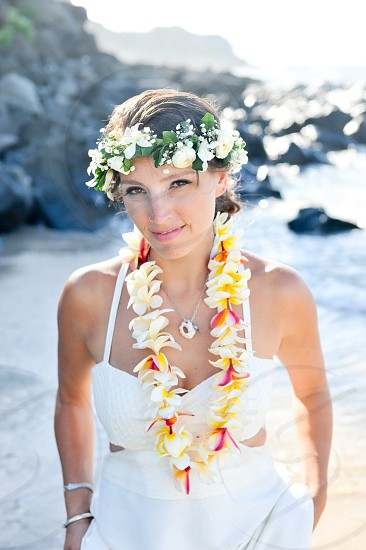 Maui wedding photography Maui bride on the beach photo