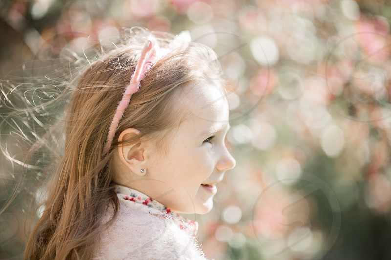 Little girl spring outdoor portrait  photo