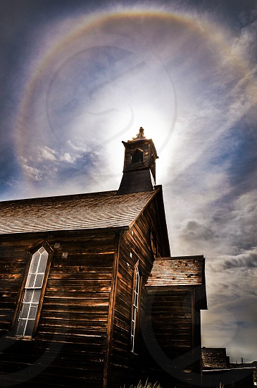 Rainbow church in Bodie photo