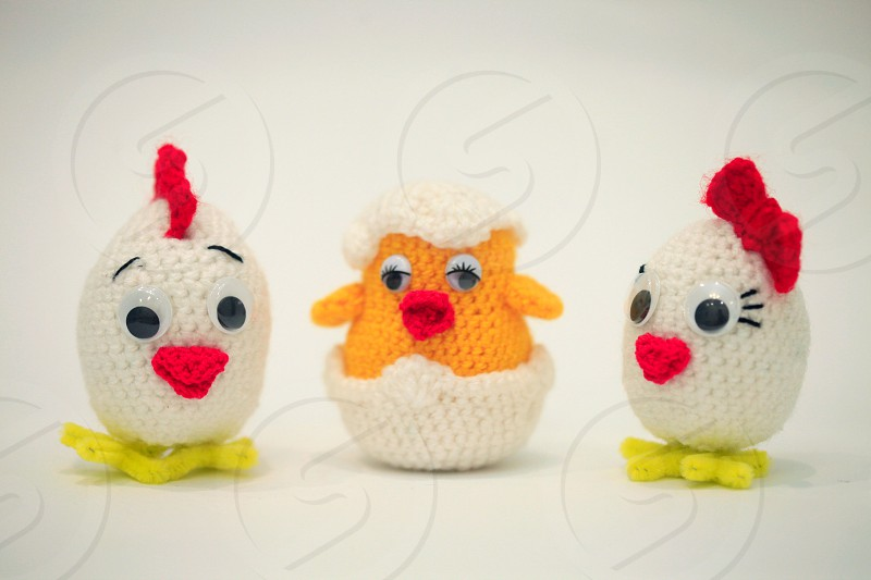 knitting toys for Easter photo