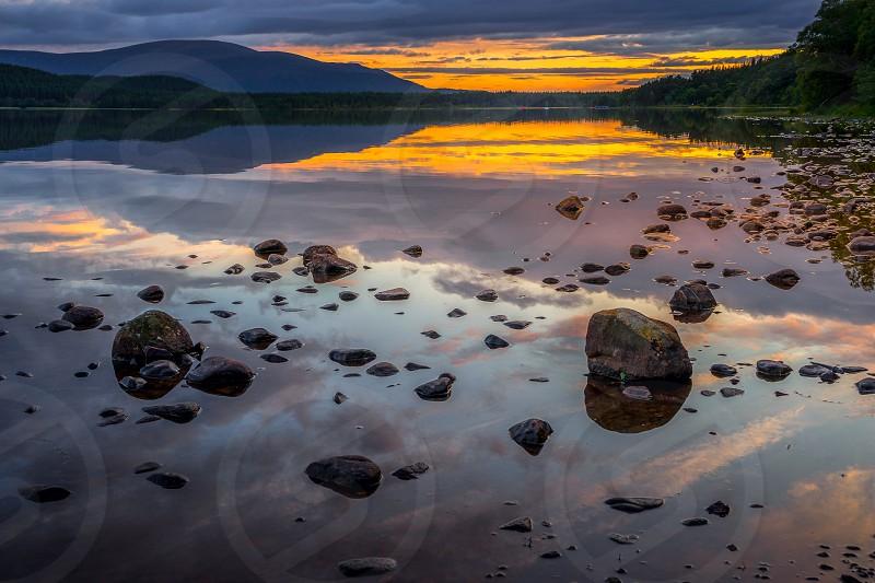 Loch Morlich at sunset photo