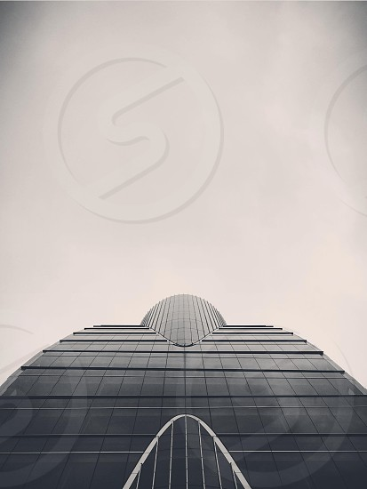 Looking up at a building in Dallas Texas.  photo