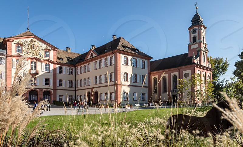 The Deutschordensschloss on the Mainau island at the lake of constance in Germany photo