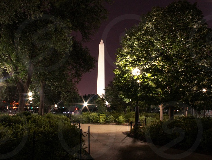 The Washington Monument on a summer night.  photo