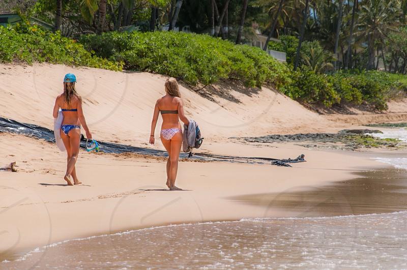 2 woman in bikini photo