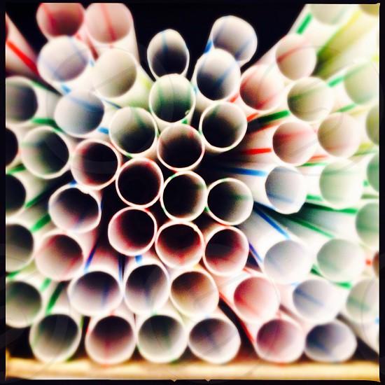 Colorful straws - close up photo