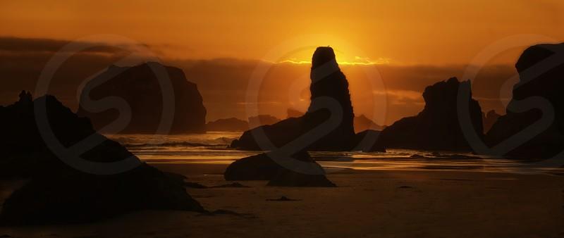 Sunset - Bandon OR photo
