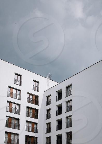 white building sky minimalism architecture photo