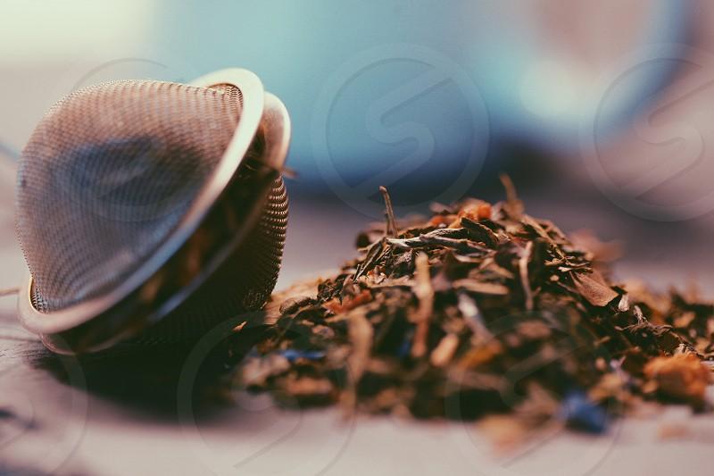 tea green green tea blend mix sencha PaiMuTan WuLu Jiaogulan jasmin apricots closeup macro preparation drink food hot photo