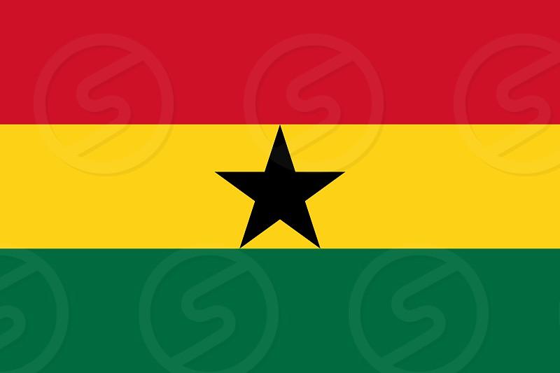 Official Large Flat Flag of Ghana Horizontal photo