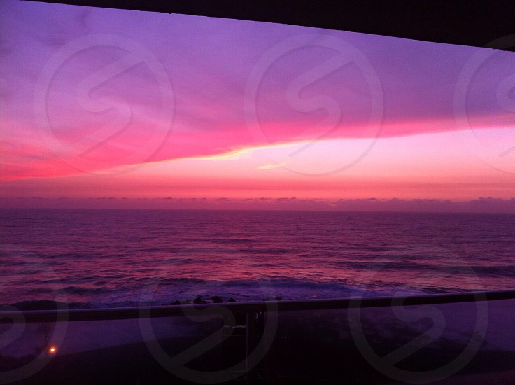 South Africa's dolphin coast-Indian Ocean sunrise. Photo has not been edited at all! photo