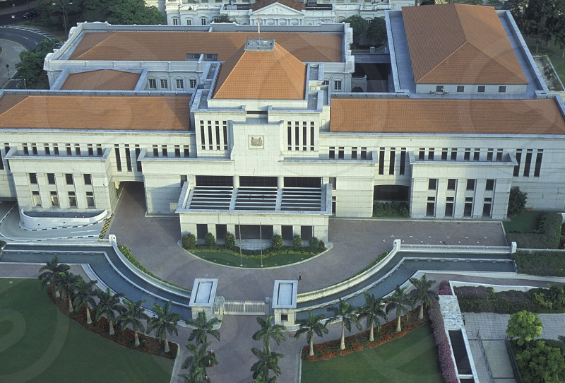 the old parliament house at the Marina Bay at the Singapore River and Marina Bay in the city of Singapore in Southeastasia. photo