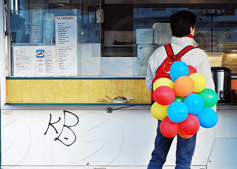 Backpack balloons. photo