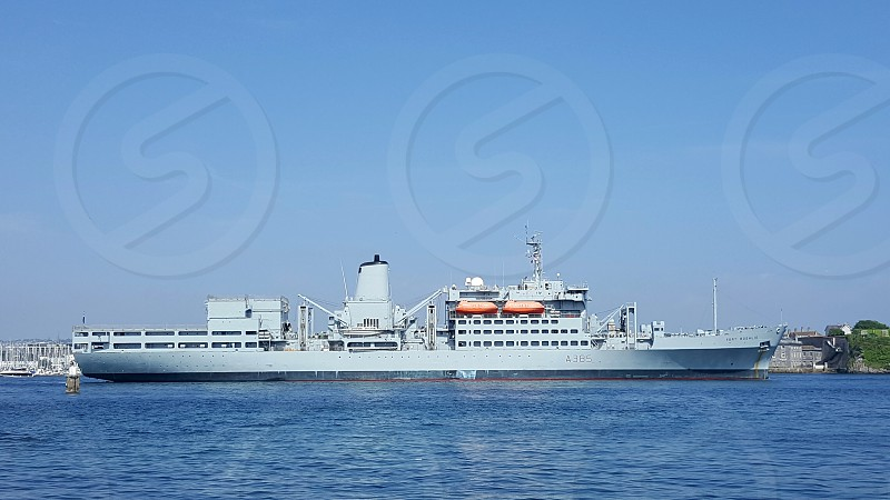 RFA Fort Rosalie A385 Royal Fleet Auxiliary supply ship at Plymouth England UK photo