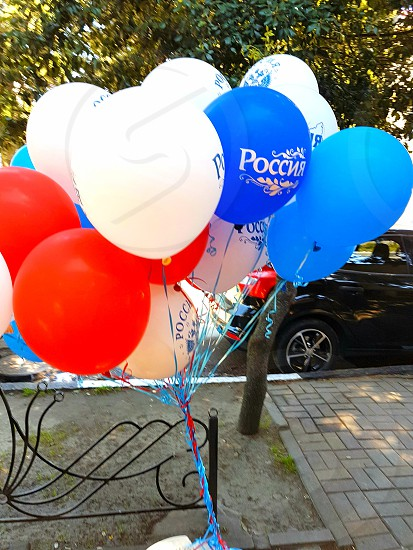 Balloons tricolor photo