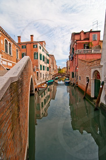 unusual pittoresque view of Venice Italy most touristic place in the world still can find secret hidden spots photo