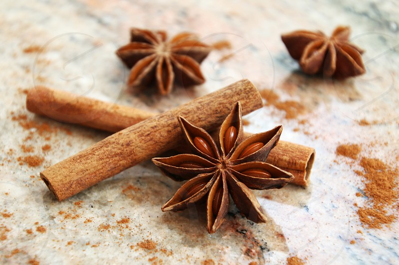 anise cinnamon kitchen relish table backing cooking photo