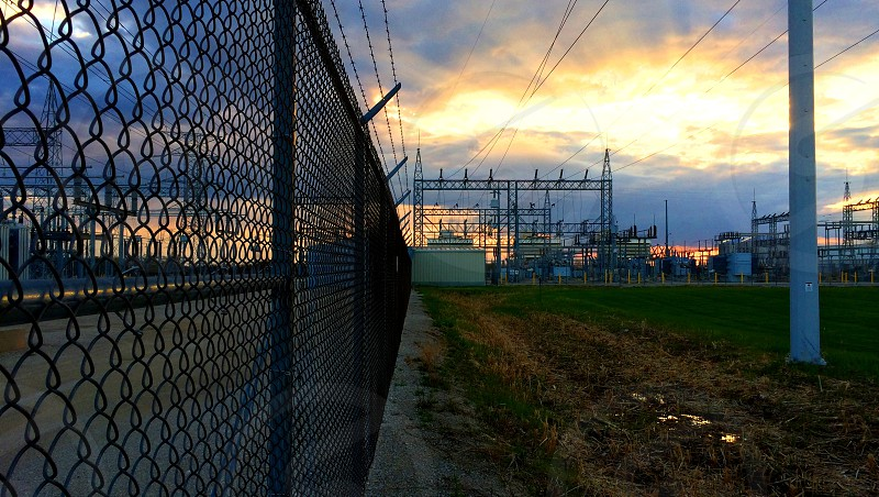 High voltage fence River Road photo
