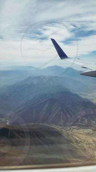 Sky airplane high in the sky fear overcome beautiful  photo