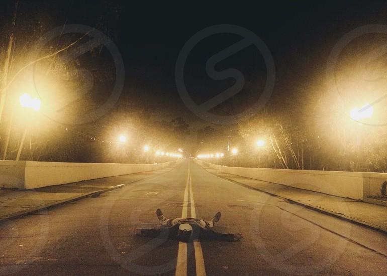 gray concrete road photo