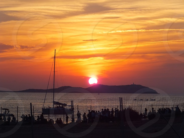 Sunset in Ibiza photo