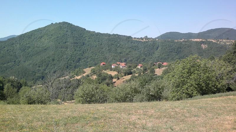 small village in mountain photo