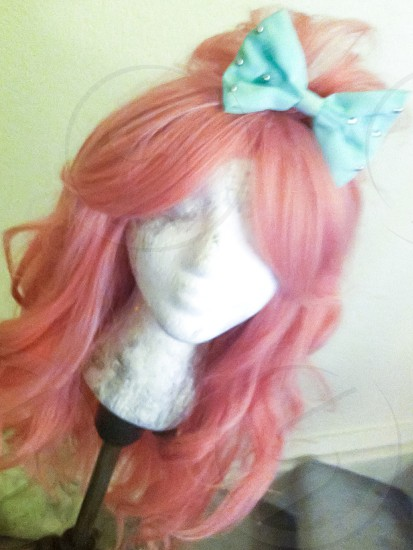 a wig i styled to wear around and look fashionable! photo