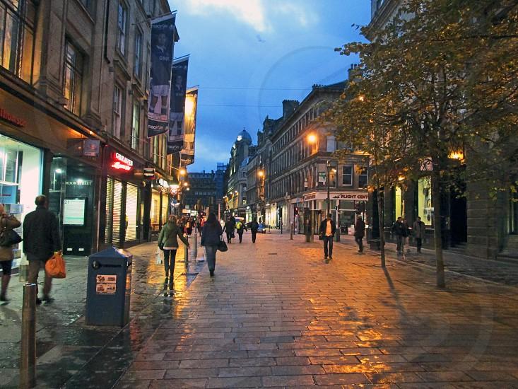 SCOTLAND Glasgow. A view along Gordon Street looking towards Glasgow Central Station.             photo