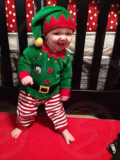 My little Elf... He is so ready for Christmas  photo