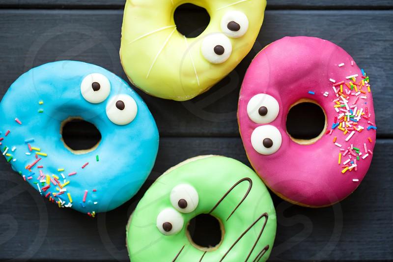 Good-morningcolored donuts tasty funny photo