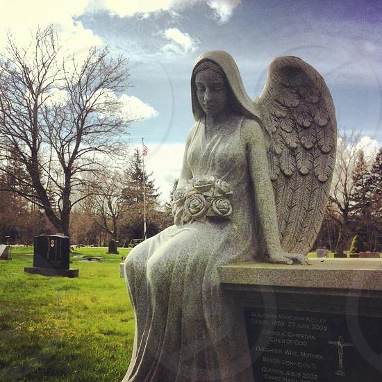 Angel cemetery flag photo