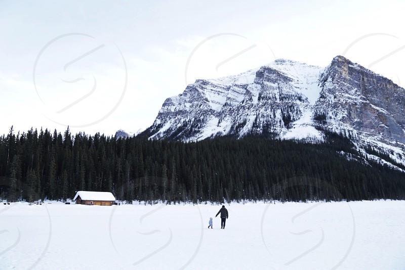 Exploring Lake Louise Banff Canada photo
