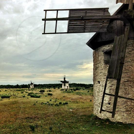 Gotland Sweden - Windmills photo