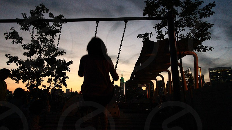 woman on swing photo