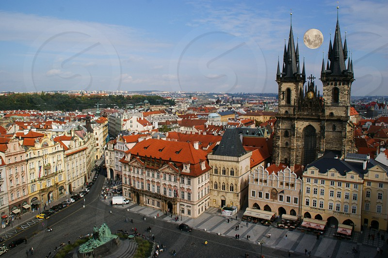 Old Town Square in the Old Town quarter of Prague the capital of the Czech Republic. photo
