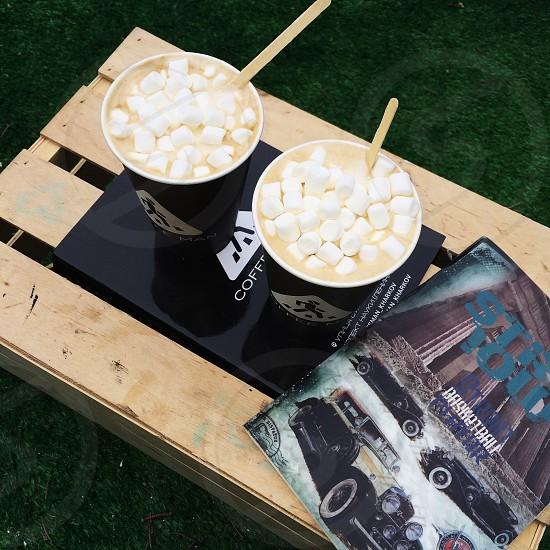 coffee marshmallows  photo