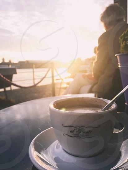Coffee Amsterdam Cappuccino Summer Sun  photo
