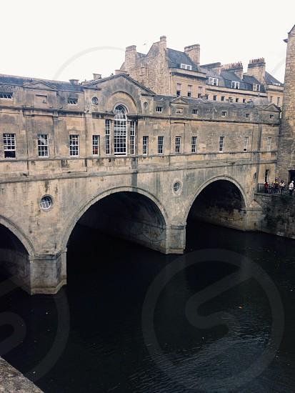 Oldest bridge in Bath UK photo