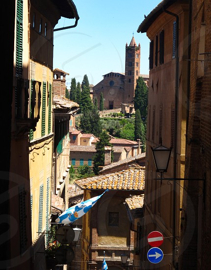 Siena Toscana italy old town tower photo