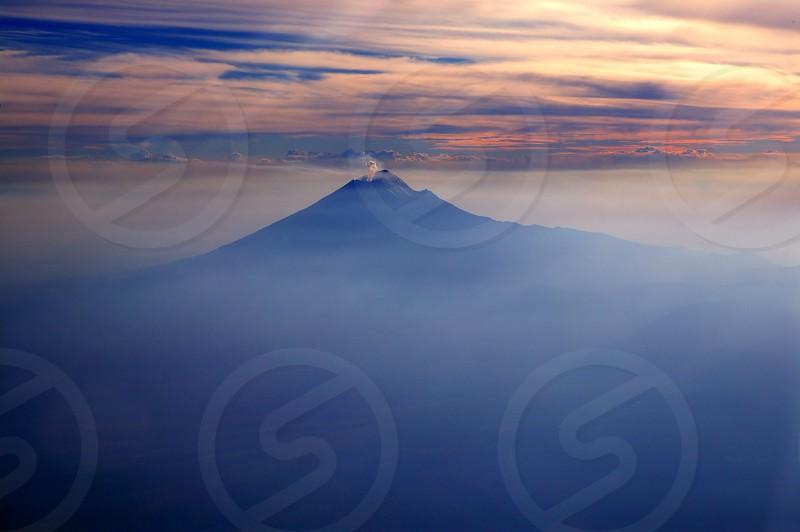 popocatepetl Mexico df volcano from sky photo
