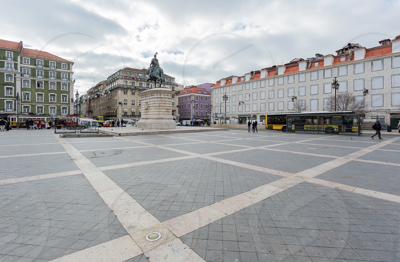 square of Figueira in lisbon photo