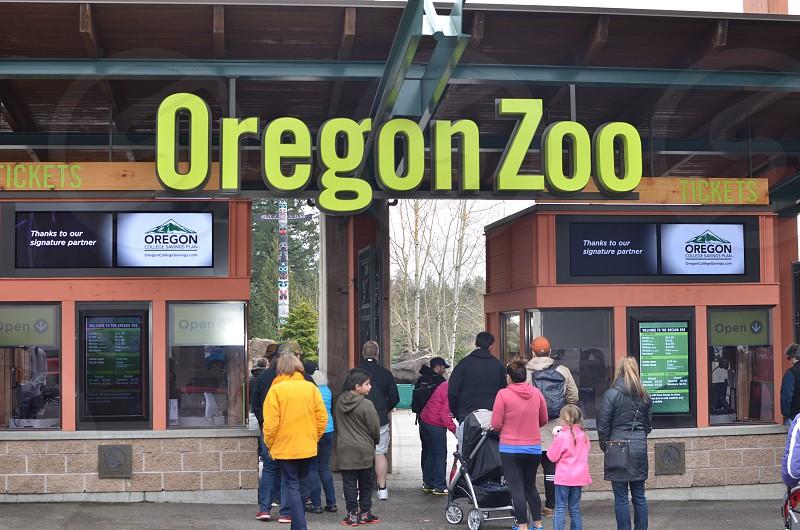 Oregon Zoo Portland Oregon entrance photo
