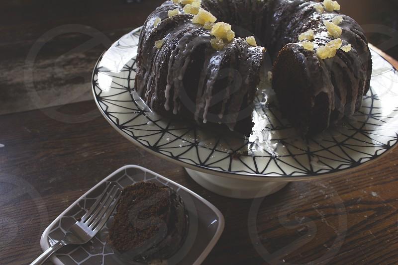 Ginger molasses bundt cake.  photo