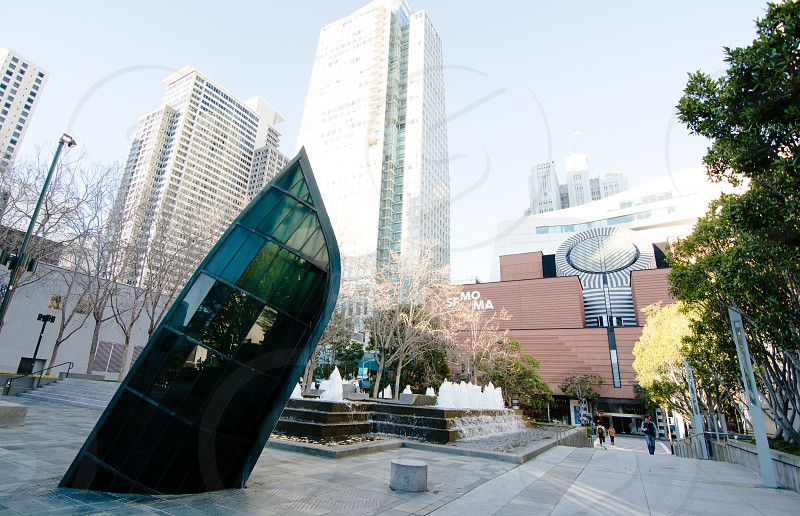 Looking at SFMOMA from the Yerba Buena Center for the Arts photo