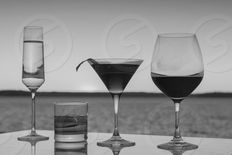 Alcohol couples drinking tasting photo