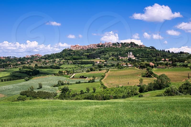 View of San Biagio Church and Montepulciano photo