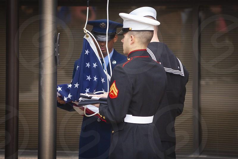 POW/MIA flag ceremony Denver Colorado photo