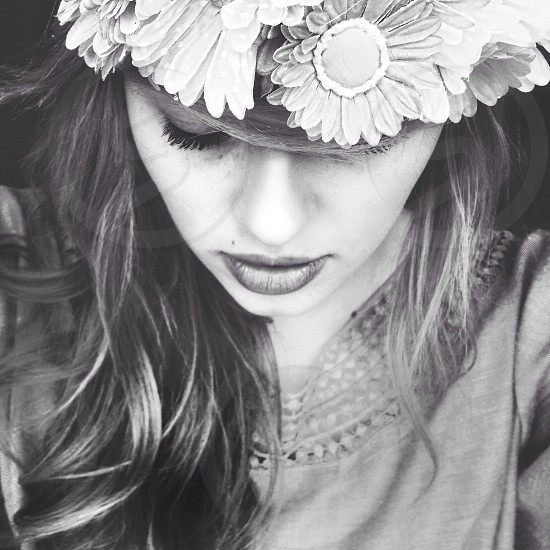 woman in flower crown photo