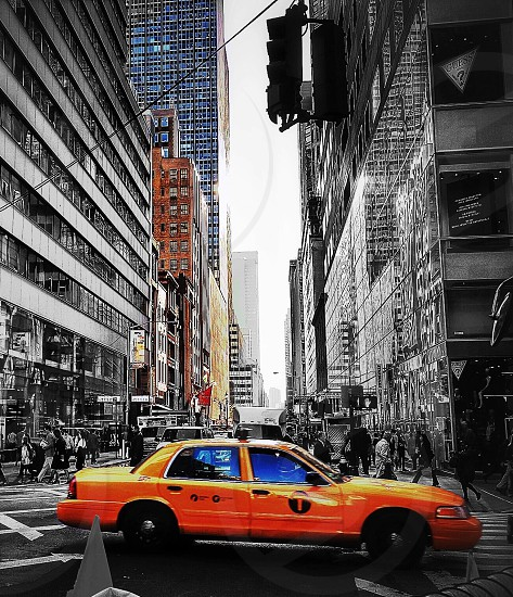Yellow cabManhattanNew York  photo