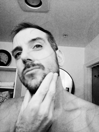 Beard hands close up photo